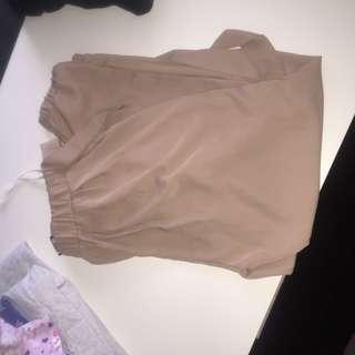 beige tie up pants