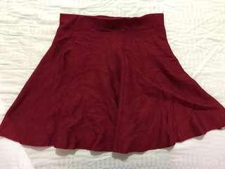 (Preloved) Red Skated Skirt