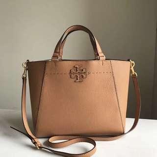 Authentic Tory Burch McGraw Carryall handbag sling bag