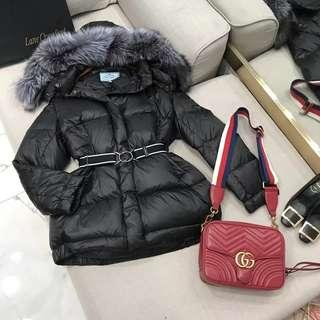 Prada Fur Puffer Jacket