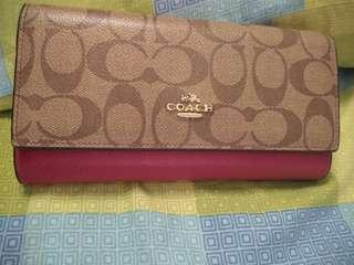 Authentic Coach Long Wallet for women from US!!