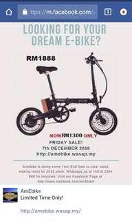 Foldable Electric Bicycle (e-Bicycle)