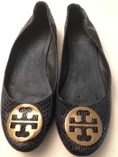 Authentic Tory Burch leather flats