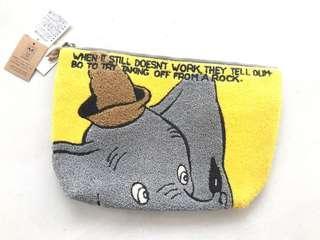 日本迪士尼小飛象mini pouch dumbo 毛毛小袋 Disney japan Xmas gift 聖誕交換禮物女神出街