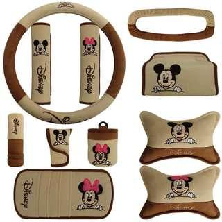 Mickey Mouse Car Accessories Set
