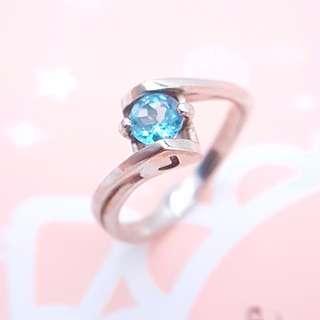 🚚 Name Blue topaz ring, heart shape, S925 Silver ring, customisable, gift, present. ER005