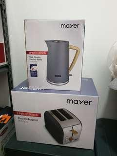 BN Mayer Electric Kettle & Toaster