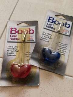 Boobs Card Holder Blue & Pink
