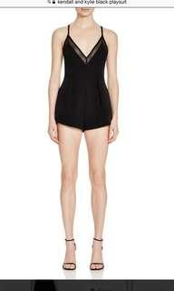 Kendall + Kylie Black Playsuit