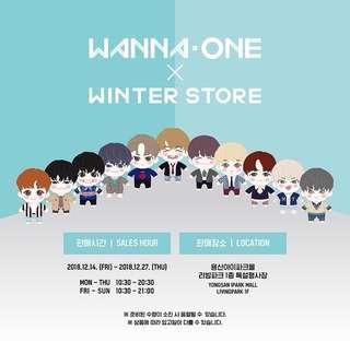 Wanna One x Winter Store Pop Up Store