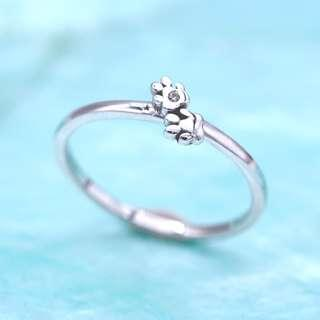 🚚 DualPaws 925 sterling silver ring with diamond, dog paws ring, animal ring, Tigarpaws collection, RN343