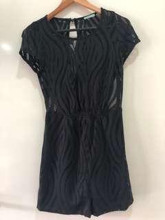 Kookai black lace playsuit size 34