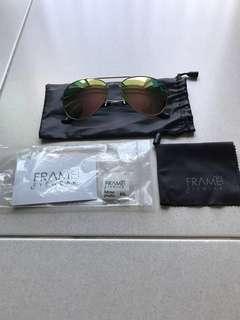 Frame Eyewear Kieran Golden Sunglass Brand New In Packaging