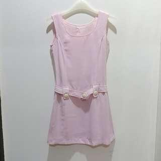 Dress in baby pink