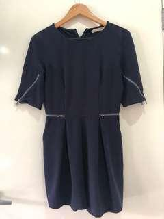 Navy playsuit size 8