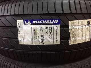 New Tayar 225/55R17 Michelin Primacy 3 4pcs RM1600 Tahun 2018