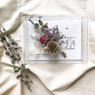 🚚 **Seasonal** Personalised Dried Flowers Christmas Card