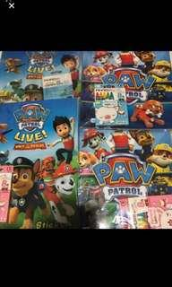 Instock paw Patrol Coloring And Stickers book set brand new