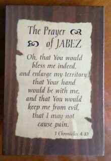 Bible Verse Wooden Desk Decor