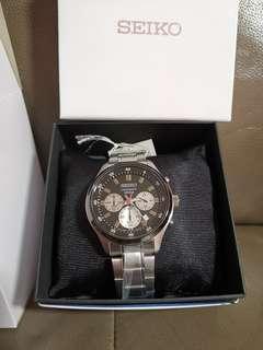 [Special Offer] Seiko Chronograph Quartz Men's Silver Stainless Steel Bracelet Watch