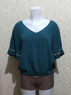 Boho green top