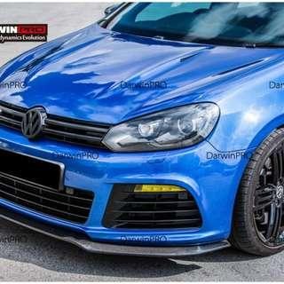 mk6 golf R extot style front lip in carbon fiber. Have 1 display set for customer test fit and confirm order now.