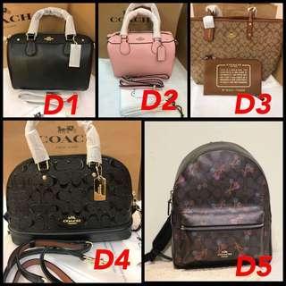 (16/12/18)Authentic Coach women handbag backpack new in item