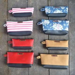 Make up case clutch bag