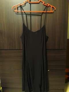 🚚 Black Strappy Party Dress