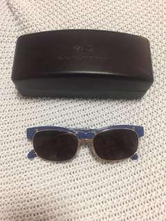Karen Walker The Outsider Blue & Gold Frame Sunglasses