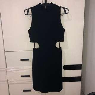 Forever 21 Cutout Waist Black Dress