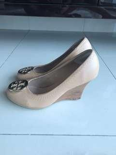 Tory Bur*h miror wedges shoes