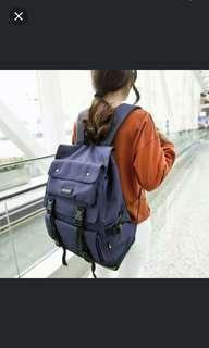 減價 全新 blue backpack 藍色背囊 大容量