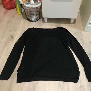 Black knit sweater by mango