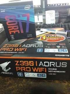 Intel i7 8700 Z390 Gigabyte ITX Aorus Pro Wifi