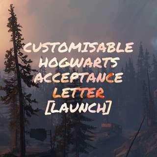 🚚 Customisable Harry Potter Hogwarts Acceptance Letter