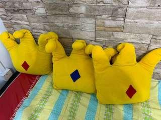 Soft toy crown cushions