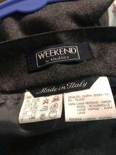 🚚 Maxmara US size 6 wool pleated skirt
