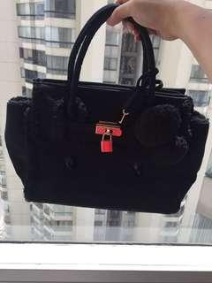 Suede Black Hello Kitty Bag