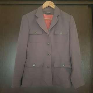 Behar NY Ash Gray Office Coat