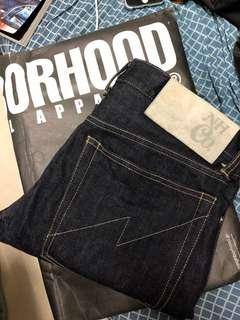 🇯🇵潮牌NEIGHBORHOOD DP-NARROW 14oz(安士布料unwash原色blue jeans