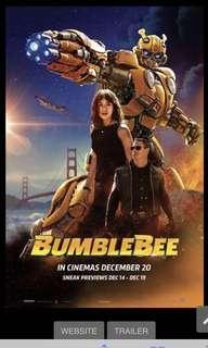 Bumblebee movie tickets @ GV