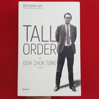 GCT Autographed Tall Order - The Goh Chok Tong Story
