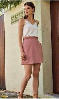 🚚 TCL's Kelisa Gingham Skirt in RED (FINAL SALES)