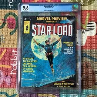 Marvel Preview 4 Cgc 9.6 ( 1st Star-Lord ) Star Lord Gotg guardians of the galaxy