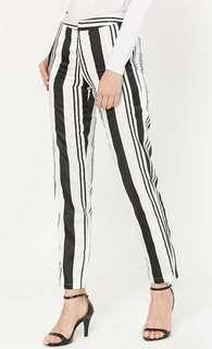 Aere Oralis Pencil Pants in White and Black