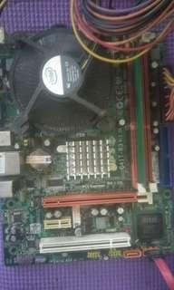 mainboard ecs g41 plus processor dual core