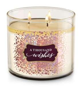 A Thousand Wishes Three Wick Candle Bath&Body Works