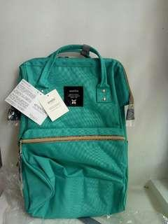Green Anello Canvas Backpack Authentic BNIP BNWT