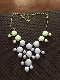 Blue and green massive necklace